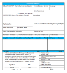 Commercial Invoice Template Xls Excel In Microsoft Batayneh Me