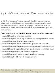 Top 8 chief human resources officer resume samples In this file, you can  ref resume ...