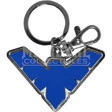 Blue Nightwing Emblem Keychain - MG-45397 by Medieval Collectibles