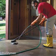 how to remove paint from concrete and