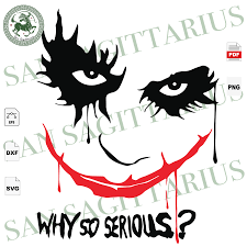 Unfollow halloween window clings to stop getting updates on your ebay feed. Why So Serious Joker Face Svg Joker Svg Joker Mask Svg Joker Stick San Sagittarius