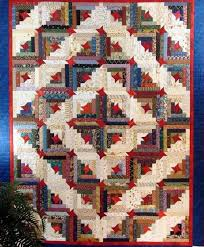 Make yourself at home! 7 Cozy Log Cabin Quilt Patterns & Friendship star quilt pattern Adamdwight.com