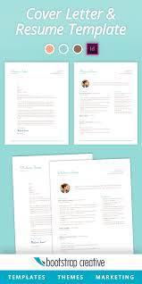 Bootstrap Creative Inspiring Vision Indesign Resume Template