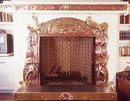 pacific s fireplace surround trim copper and brass 1990 image to view close up