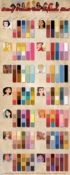 Princess Paint Colour Chart Princess Color Reference Chart Disney Princess Colors