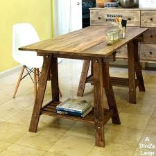 ikea table legs wood sawhorse table legs a birds leap rustic desk with stained legs m a k e ikea wood table metal legs