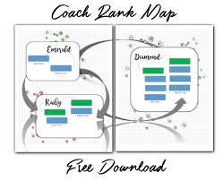 Free Beachbody Coach Business Rank Advancement Map Worksheet