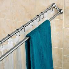 Stainless Steel Double Curved Shower Curtain Bar To Hang Clothes