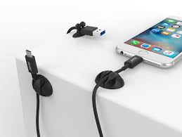 joto cable clips cord management organizer wall desk desktop cable wire clip electronics computer mouse charging usb cable holder black ca