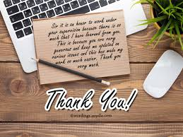 Thank You Notes To Boss Gorgeous Thank You Notes For Boss Wordings And Messages