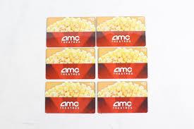 amc gift cards 50 00 5 pieces amc theatre