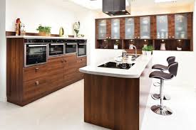 fitted kitchens for small kitchens. Savannah Walnut Finish Fitted Kitchen Wood Kitchens For Small