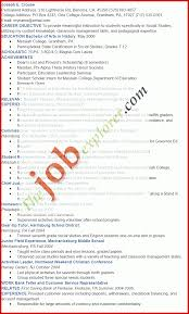 Beautiful Academic Resume Template Mailing Format