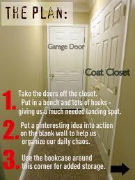 progress in the mudroom closet doors are gone