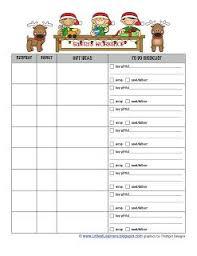 Printable Christmas Gift List Template Holiday Gift List Template