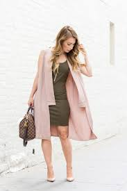 Ootd Blush Pink Olive Green La Petite Noob A Toronto Based