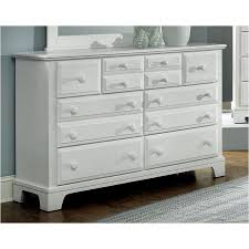 Bb6-002 Vaughan Bassett Furniture Triple Dresser - Snow White