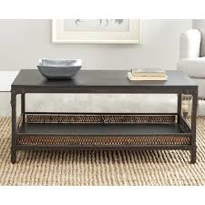 innovative accent coffee table safavieh bedford wicker accent wood top coffee table 13887062