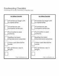 Proofreading Checklist Education Writing Teaching Writing