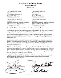 Letter to Boehner Reid Hensarlin MurrayLetter Opposing Aviation Flight Fees 10 11