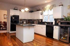 Interesting Kitchen Ideas White Cabinets Black Appliances 17 Best Images About Redo On Pinterest To Impressive Design