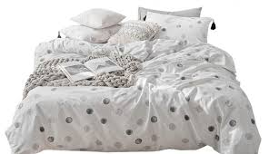 large size of textured white ruched blue covers single waffle argos asda bath bedding black super