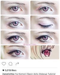 yui komori cosplay makeup tutorial cosplay diy makeup 101 beauty makeup hair