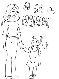 Disegni Per La Festa Della Mamma W La Mamma Disegni Da Colorare