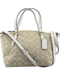 coach f57830 outline signature mini kelsey crossbody satchel bag light khaki  chalk