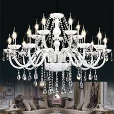 modern white crystal chandelier lights lamp chandeliers for bedroom living room fixture crystal ceiling light res de crista lighting wall chandelier