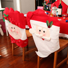 kitchen chair back covers. Chair Back Covers. Full Size Of Kitchen, Newest 2pcs Christmas Thick Mr And Mrs Santa Claus Kitchen Covers