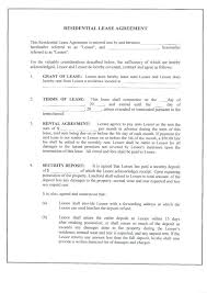 Sample Lease Template Residential Lease Template Free Download