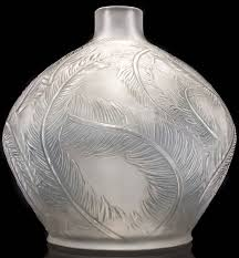 RENÉ <b>LALIQUE</b> CLEAR AND FROSTED WITH GREY PATINA GLASS