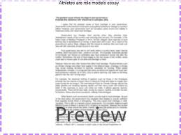 athletes are role models essay coursework academic writing service athletes are role models essay another reason why athletes should not be considered role models
