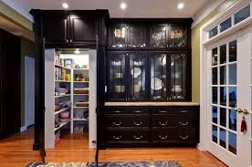 Black and White Kitchen Pantry