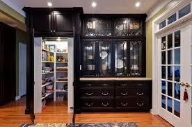 black and white kitchen pantry