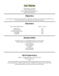 resume examples high school student job resume example for high school students