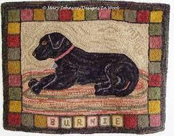 rug hooking pattern burnie the labrador 24 x 32 j630 hooked dog rug black dog rug primitive hooked rug pattern