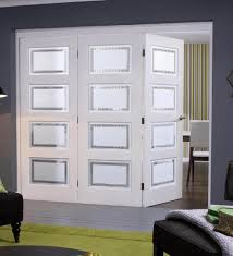 solid white primed contemporary 4l nuvu internal folding sliding doorsets