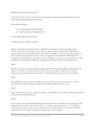 Performance Review Letter Template