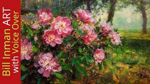 paint flowers learn to paint beautiful peonies fast motion w instruction