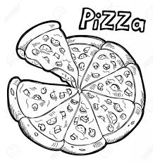 pizza clipart black and white. And Pizza Clipart Black White