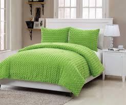 com vcny rose fur 2 piece comforter set twin green home kitchen