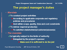 Project Manager Duties The Project Managers Duties
