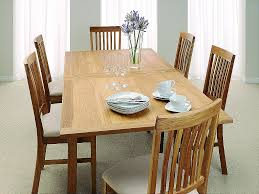 country oak dining table extending flip top