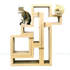 cat tree plans free diy modern scratching post amazing condo natural wood playroom ideas best without