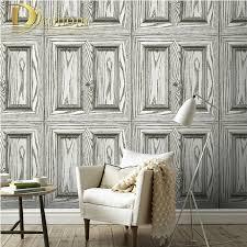 Small Picture Aliexpresscom Buy Waterproof PVC Vintage Wood Door 3D Wallpaper