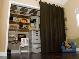 attractive closet door ideas curtain