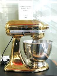 champagne gold kitchenaid mixer plated