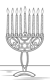 Small Picture Hanukkah Menorah coloring page Free Printable Coloring Pages